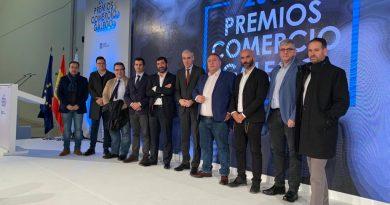Cambados Zona Centro estivo representada na gala dos Premios Comercio Galego 2019
